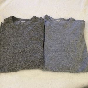 OLD NAVY LONG SLEEVED T-SHIRTS CHARCOAL/BLUE GRAY
